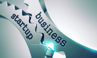46207760 – business startup on the mechanism of metal cogwheels.