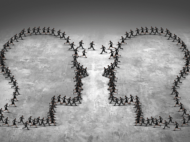 Teamwork Leadership Business Concept
