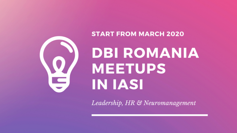Start from march 2020 DBI Romania meetups